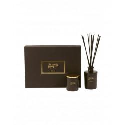 Teatro Fragranze Uniche, TOBACCO 1815 (Luxury collection), Gift Box (Diffuser 250 ml.+ Candle gr.180 gr)